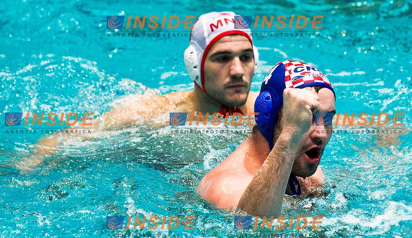 Eindhoven , Netherlands (NED) 17/1/2012.LEN European  Water Polo Championships 2012.Day 02 - Men.Montenegro Vs Croatia..MNE.1RADIC Zdravko.2 BRGULJAN Drasko.3 P ASKOVIC Vjekoslav.4 PETROVIC Antonio.5 KLIKOVAC Filip.6 RADOVIC Aleksandar.7 JANOVIC Mladan.8 JANOVIC Nikola.9 IVOVIC Aleksandar.10 ZLOKOVIC Boris.11 GOJKOVIC Vladimir.12 JOKIC Predrag.13 SCEPANOVIC Milos..CRO.1 PAVIC.Josip.2 BURIC Damir.3 BOSKOVIC Miho.4 DOBUD Niksa.5 JOKOVIC Maro.6 MUSLIM Petar.7 KARAC Frano.8 BUSLJE Andro.9 SUKNO Sandro.10 BARAC Samir.11 PASKVALIN Fran.12 OBRADOVIC Paulo.13 BULJUBASIC Ivan..Photo Insidefoto / Giorgio Scala