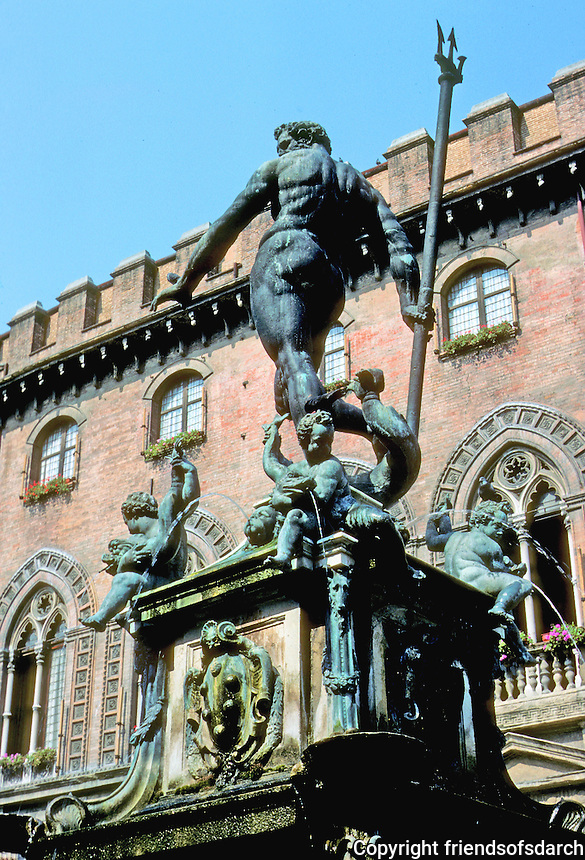 Italy: Bologna--Neptune's Fountain, 1566. Photo '83.