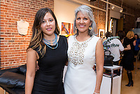 Angela Romero and Particia Monfalve at the Kamila Dmowska Holiday Trunk Show on Dec. 6, 2015 (Photo by Alex Akamine/Guest of a Guest)