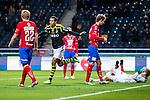 Solna 2013-09-30 Fotboll Allsvenskan AIK - &Ouml;sters IF :  <br /> AIK 15 Robin Quaison jublar efter sitt 2-1 m&aring;l<br /> (Foto: Kenta J&ouml;nsson) Nyckelord:  jubel gl&auml;dje lycka glad happy