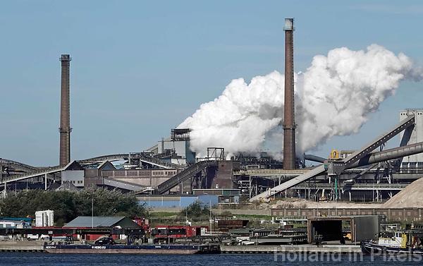 Nederland Velsen-Noord. september 2018.  Tata Steel , de vroegere Hoogovens. Foto Berlinda van Dam / Hollandse Hoogte
