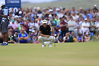 Joakim Lagergren (SWE) on the 18th green during Sunday's Final Round of the 2018 Dubai Duty Free Irish Open, held at Ballyliffin Golf Club, Ireland. 8th July 2018.<br /> Picture: Eoin Clarke | Golffile<br /> <br /> <br /> All photos usage must carry mandatory copyright credit (&copy; Golffile | Eoin Clarke)