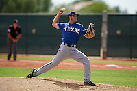 Texas Rangers pitcher Nick Green (50) during an instructional league game against the Seattle Mariners on October 5, 2015 at the Surprise Stadium Training Complex in Surprise, Arizona.  (Mike Janes/Four Seam Images)