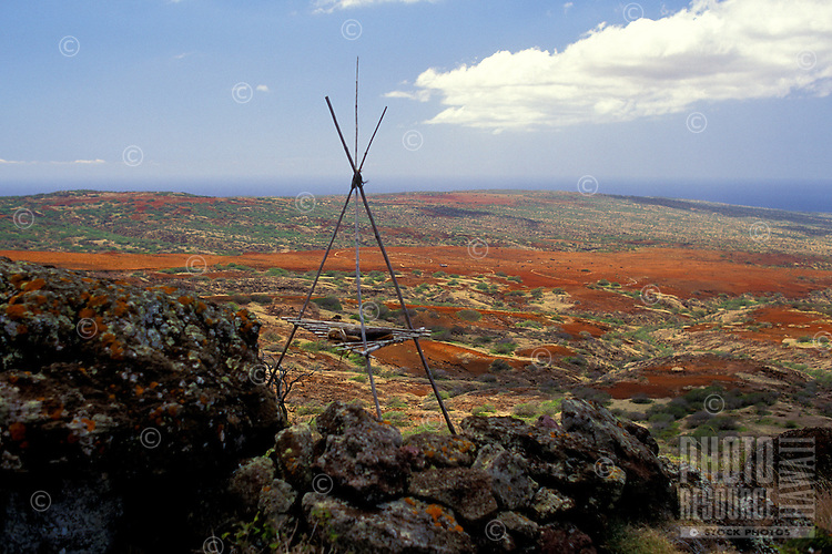 Hawaiian heiau found on the island of Kahoolawe