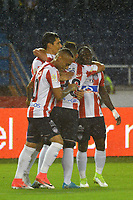 BARRANQUILLA -COLOMBIA ,20-08-2017.  Roberto Ovelar jugador del  Atlético Junior celebra su gol contra  el Once Caldas durante encuentro  por la fecha 9 de la Liga Aguila II 2017 disputado en el estadio Metropolitano Roberto Meléndez de Barranquilla/Roberto Ovelar player of Atletico Junior celebrates his goal against of  Atletico Nacional during match for the date 9 of the Aguila League II 2017 played at Metropolitano Roberto Melendez in Barranquilla . Photo:VizzorImage / Alfonso Cervantes  / Cont