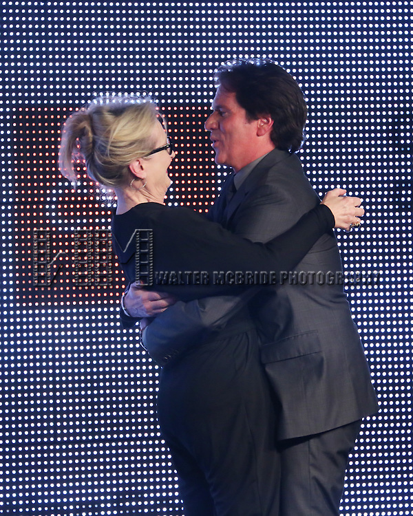 Meryl Streep presents Rob Marshall with the New York Apple Award during the 30th Annual Artios Awards Presentation at 42 WEST on January 22, 2015 in New York City.
