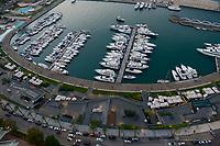 LEBANON, Beirut, yachts at Zaitunay bay at mediterranean sea  / LIBANON, Beirut, Jachthafen Zaitunay Bay am Mittelmeer