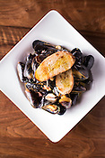 Raleigh, North Carolina - Wednesday February 24, 2016 - Classic Prince Edward Island Mussels at More, in Raleigh.