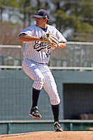 Matt Whitehouse of the University of California at Irvine pitching during  a game against James Madison University at the Baseball at the Beach Tournament held at BB&T Coastal Field in Myrtle Beach, SC on February 28, 2010.