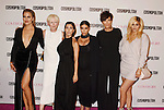 WEST HOLLYWOOD, CA - OCTOBER 12: (L-R) TV personality Khloe Kardashian, Cosmopolitan Editor-in-Chief Joanna Coles, TV personalities Kourtney Kardashian, Kim Kardashian, Kris Jenner and Kylie Jenner arrive at Cosmopolitan Magazine's 50th Birthday Celebration at Ysabel on October 12, 2015 in West Hollywood, California.