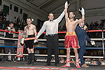 Jamie Arlain vs Andrew Joicey 10x3 Lightweight Southern Area Eliminator During Goodwin Boxing: Christmas Carnage. Photo by: Simon Downing.<br /> <br /> Saturday 3rd December 2016 - York Hall, Bethnal Green, London, United Kingdom.
