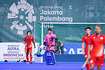 (L-R) <br /> Kenji Kitazato, <br /> Takashi Yoshikawa (JPN), <br /> SEPTEMBER 1, 2018 - Hockey : <br /> Men's Final match between <br /> Japan 6-6(3-1) Malaysia <br /> at Gelora Bung Karno Hockey Field <br /> during the 2018 Jakarta Palembang Asian Games <br /> in Jakarta, Indonesia. <br /> (Photo by Naoki Nishimura/AFLO SPORT)