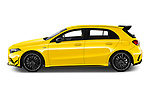 Car Driver side profile view of a 2019 Mercedes Benz A-Class - 5 Door Hatchback Side View