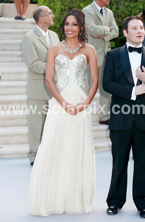 **ALL ROUND PICTURES FROM SOLARPIX.COM**                                             **UK AND SPAIN SYNDICATION RIGHTS ONLY**                                                                                  Caption: Arrivals at the amfAR Cinema against AIDS gala during the 64th Cannes Film Festival, Antibes, France. 19 May 2011                                                                              This pic: Rosario Dawson                                                  JOB REF: 13385 CPR       DATE: 19_05_2011                                                           **MUST CREDIT SOLARPIX.COM OR DOUBLE FEE WILL BE CHARGED**                                                                      **MUST AGREE FEE BEFORE ONLINE USAGE**                               **CALL US ON: +34 952 811 768 or LOW RATE FROM UK 0844 617 7637**
