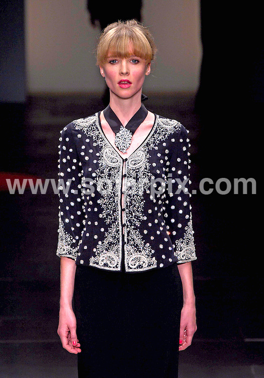 **ALL ROUND PICTURES FROM SOLARPIX.COM**                                             **NO UK NEWSPAPER PUBLICATION**.**UK MAGAZINE & SUPPLEMENT PUBLICATION ONLY** AND NO PUBLICATION IN AUSTRALIA, BELGIUM, FRANCE, GERMANY, ITALY, SCANDINAVIA AND USA**                                                                                London Fashion Week. The Caroline Charles  Runway SS 2012 at Somerset House in London on 16 September 2011                                                                      .This pic:    Paul Costelloe Runway                                                                                          JOB REF:    13952    SFE      DATE:   16.09.11                                                         **MUST CREDIT SOLARPIX.COM OR DOUBLE FEE WILL BE CHARGED**                                                                      **MUST AGREE FEE BEFORE ONLINE USAGE**                               **CALL US ON: +34 952 811 768 or LOW RATE FROM UK 0844 617 7637**