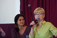 Judy Donaghy and Christiane Kamar at Circlesongs Workshop Omega Institute Rhinebeck NY