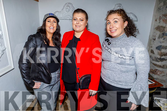 Nancy Forde (Castleisland), Cathy McEvoy (Tralee) and Mary Brosnan (Knocknagoshel) enjoying the evening in Bella Bia on Friday.