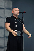 DISTURBED - vocalist David Draiman - performing live on Day Three on the Lemmy Stage at Download Festival at Donington Park UK - 12 Jun 2016.  Photo credit: Zaine Lewis/IconicPix
