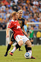 Paul Scholes (18) of Manchester United. Manchester United (EPL) defeated the Philadelphia Union (MLS) 1-0 during an international friendly at Lincoln Financial Field in Philadelphia, PA, on July 21, 2010.