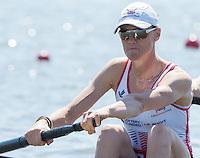 Brandenburg. GERMANY. GBR W2-.  Heather STANNING.<br /> 2016 European Rowing Championships at the Regattastrecke Beetzsee<br /> <br /> Friday  06/05/2016<br /> <br /> [Mandatory Credit; Peter SPURRIER/Intersport-images]