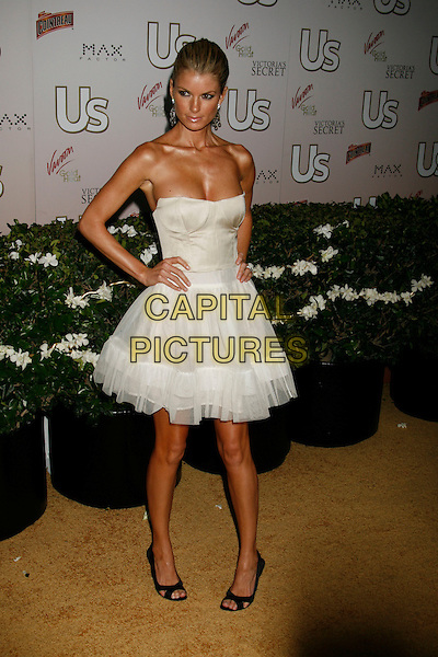 MARISSA MILLER.US Weekly Presents Us' Hot Hollywood 2007 held at Sugar,  Hollywood, California, USA..April 26th, 2007.full length white sheer dress hands on hips strapless .CAP/ADM/RE.©Russ Elliot/AdMedia/Capital Pictures