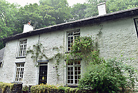 Pictured: The house where love letter where discovered by Sarah Quick under the floorboards in Pontypridd.<br /> Re: Love letters sent between a young couple over 60 years ago have been found beneath the floorboards of a house by its new owners.<br /> Sarah Quick, 38, was renovating the old cottage that she lives at with her partner and daughter in Pontypridd, south Wales, when she discovered the bundles of letters.<br /> It turned out the letters were sent between a young couple called Rena and John and dated back to the 40s and 50s.<br /> Most of the letters were sent by John who was stationed at RAF stationed in Melksham while Rena was living with her mother in Pontypridd. They tell the tale of a couple at the beginning of a blossoming relationship but separated by circumstances.