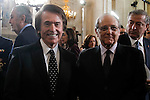Raphael and Emilio Gutiérrez Caba attends to the closing of the commemoration of the IV centenary of the death of Miguel de Cervantes at Royal Palace in Madrid, Spain. January 30, 2017. (ALTERPHOTOS/BorjaB.Hojas)