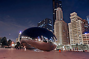 Cloud Gate, in Millennium Park, Chicago. Ernie Mastroianni photo.