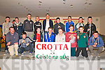 Crotta Coiste Na Og Medal Presentation : Members of the Crotta U/15 hurlers who won the Tom Healy Tournament  being presented with their medals by All Ireland Clare hurler Brendan Bugler at St Senan's Clubhouse, Mountcoal  on Saturday night last.