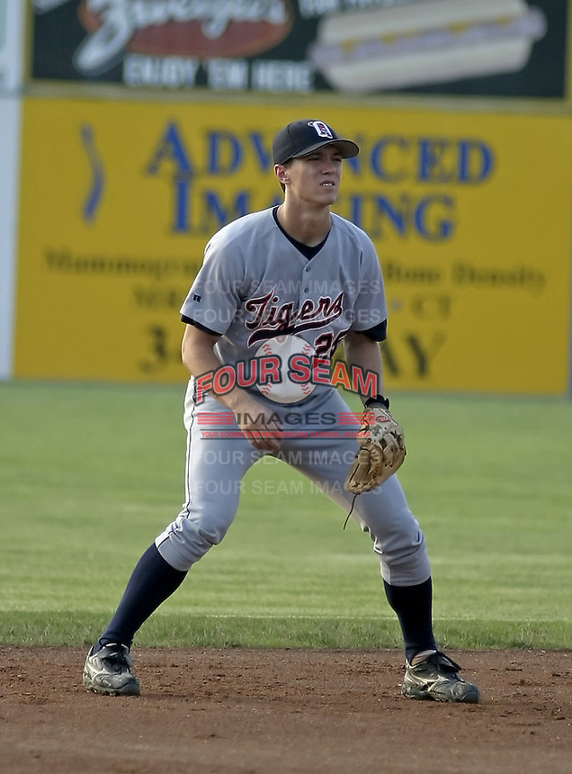 July 22, 2004:  Brent Dlugach of the Oneonta Tigers, Short-Season Low-A NY-Penn League affiliate of the Detroit Tigers, during a game at Dwyer Stadium in Batavia, NY.  Photo by:  Mike Janes/Four Seam Images