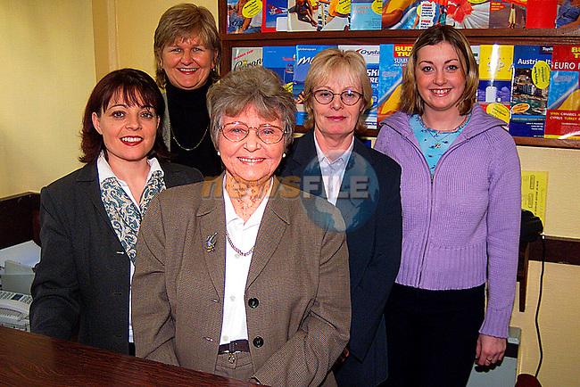 Maureen Kearney,Sheila Martin,Karen Haipin,Valerie Camobell,and Sarah Jane Clinton. the Staff of Kearney Travel...Pic Tony Campbell/Newsfile