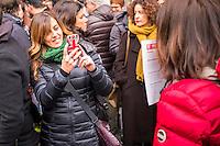 Roma, 23/01/2016 - in vista della discussione al Senato del ddl Cirinnà sulle unioni civili, la mobilitazione delle associazioni lgbt che vede massiccia partecipazione di persone che manifestano la necessità di un riconoscimento giuridico e la piena dignità delle unioni delle persone dello stesso sesso e delle coppie di fatto - Rome, 23th January 2016 - in view of discussion in the Senate of the Cirinnà's bylaw regarding civil unions, the mobilization of the LGBT associations that sees massive participation of people manifesting the need for a juridical recognition and the full dignity of the unions of persons of the same sex and for unmarried couples.
