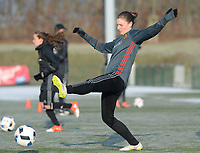 20170118 - TUBIZE , Belgium : Sofie Van Houtven pictured during a training session of the Belgian national women's soccer team Red Flames during their winter camp, on the 18 th of January in Tubize. PHOTO DIRK VUYLSTEKE | Sportpix.be
