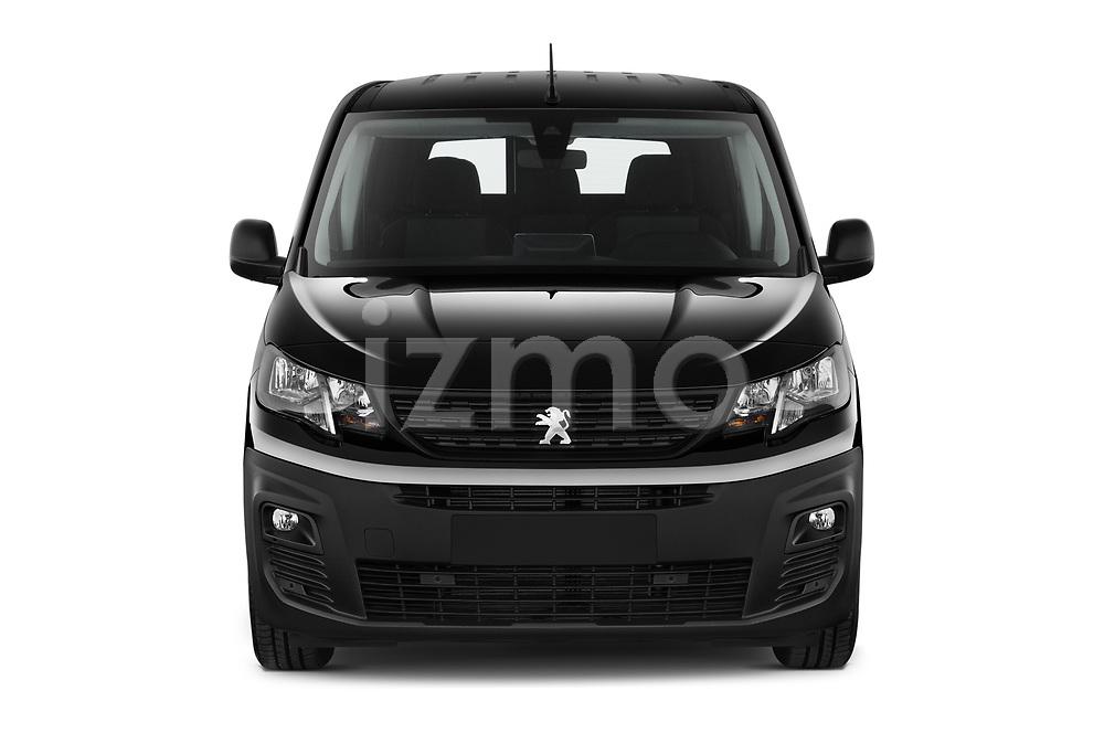 Car photography straight front view of a 2020 Peugeot Partner Premium Long 4 Door Car van