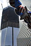 The new Financial Center at the Tunnel to Tower race, as part of 9/11/01, Memorial events. 9/25/11. New York City, USA.