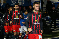 Blackburn Rovers' Adam Armstrong takes to the pitch<br /> <br /> Photographer Andrew Kearns/CameraSport<br /> <br /> The EFL Sky Bet League One - Portsmouth v Blackburn Rovers - Tuesday 13th February 2018 - Fratton Park - Portsmouth<br /> <br /> World Copyright &copy; 2018 CameraSport. All rights reserved. 43 Linden Ave. Countesthorpe. Leicester. England. LE8 5PG - Tel: +44 (0) 116 277 4147 - admin@camerasport.com - www.camerasport.com