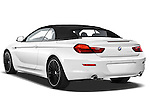 Rear three quarter view of a 2010 BMW 6 Series 640i Convertible