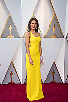 Eiza Gonzalez arrives on the red carpet of The 90th Oscars&reg; at the Dolby&reg; Theatre in Hollywood, CA on Sunday, March 4, 2018.<br /> *Editorial Use Only*<br /> CAP/PLF/AMPAS<br /> Supplied by Capital Pictures