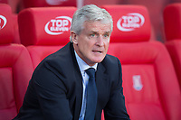 Stoke City manager Mark Hughes during the Carabao Cup match between Stoke City and Rochdale at the Britannia Stadium, Stoke-on-Trent, England on 23 August 2017. Photo by James Williamson / PRiME Media Images.
