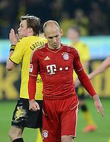 FUSSBALL   1. BUNDESLIGA  SAISON 2011/2012  30. SPIELTAG 11.04.2012 Borussia Dortmund -  FC Bayern Muenchen Enttaeuschung Arjen Robben (FC Bayern Muenchen)