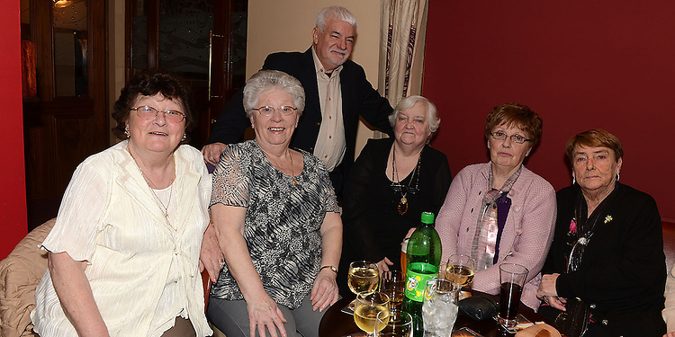 Pat Donaghy celebrating her 70th birthday in Tommy Hanratty's with friends. Photo:Colin Bell/pressphotos.ie