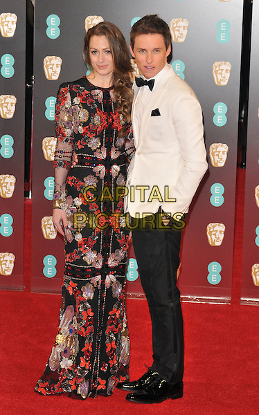 Hannah Bagshawe and Eddie Redmayne at the EE British Academy Film Awards (BAFTAs) 2017, Royal Albert Hall, Kensington Gore, London, England, UK, on Sunday 12 February 2017.<br /> CAP/CAN<br /> &copy;CAN/Capital Pictures