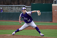 CHAPEL HILL, NC - FEBRUARY 19: Andrew Czachor #44 of High Point University pitches the ball during a game between High Point and North Carolina at Boshamer Stadium on February 19, 2020 in Chapel Hill, North Carolina.