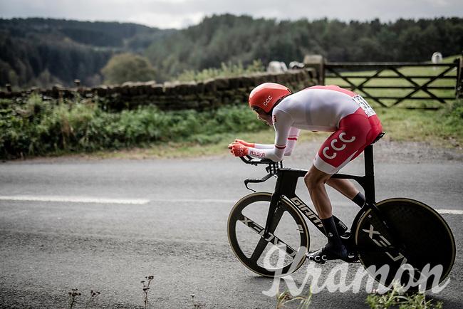 Kamil Gradek (POL/CCC)<br /> Elite Men Individual Time Trial<br /> from Northhallerton to Harrogate (54km)<br /> <br /> 2019 Road World Championships Yorkshire (GBR)<br /> <br /> ©kramon