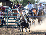 Kenny Lee competes in the calf roping event at the Minden Ranch Rodeo on Saturday, July 23, 2011, in Gardnerville, Nev..Photo by Cathleen Allison