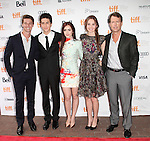 Patrick Schwarzenegger, Nat Wolff, Lily Collins, Liana Liberato and Greg Kinnear attending the The 2012 Toronto International Film Festival.Red Carpet Arrivals for 'Writers' at the Ryerson Theatre in Toronto on 9/9/2012