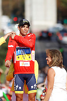 09/09/2012 Madrid Spain, Stage 21 Alberto Contador proclaimed official winner of the Tour of Spain. to the last stage John Degenkolb won the fifth stage triumph Argos team rider. The photo shows 201 - CONTADOR VELASCO Alberto (ESP) TEAM SAXO BANK (SAX)