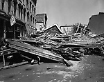 Riverside Street in Waterbury after the 1955 flood.
