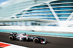 Nico Hulkenberg of Germany and Sauber F1 Team drives during the Abu Dhabi Formula One Grand Prix 2013 at the Yas Marina Circuit on November 3, 2013 in Abu Dhabi, United Arab Emirates. Photo by Victor Fraile / The Power of Sport Images