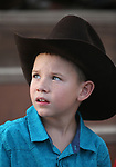 Breighdon Swenson, 7, waits for the start of the 5th Annual Carson City Bulls, Broncs &amp; Barrels event at Fuji Park, in Carson City, Nev., on Saturday, July 29, 2017. <br />